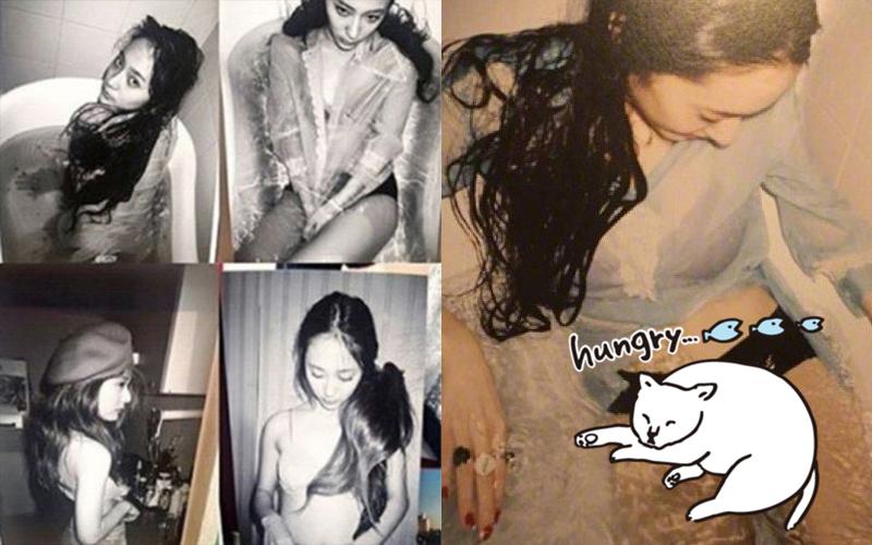 Krystal脫了!「薄紗+蕾絲Bra」出道以來最大尺度!粉絲憂:步雪莉後塵?!(圖多)