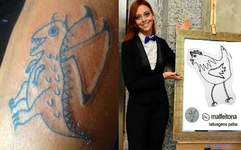 26歲女刺青師繪畫功力只有「火柴人等級」,但客人還是樂意付錢請她刺青。