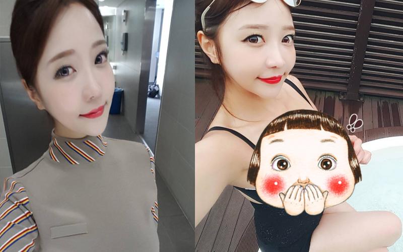 韓國正妹穿上空姐制服氣質迷人,脫下制服: ㄉㄨㄞ到讓人鼻血直噴~